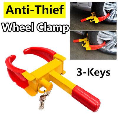 US Wheel Lock Clamp Anti-Theft Boot Tire Claw Trailer Auto Car SUV Truck