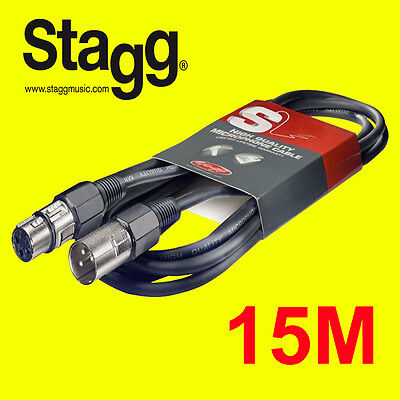 Stagg SMC15 15Meter Microphone cabler XLR Male XLR Female Bargain Price