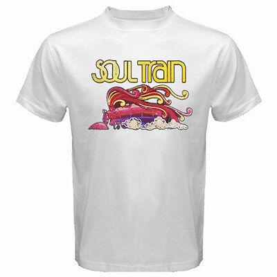 New Vintage Soul Train Don Cornelius Rap Hip Hop Men's White T-Shirt Size S-3XL