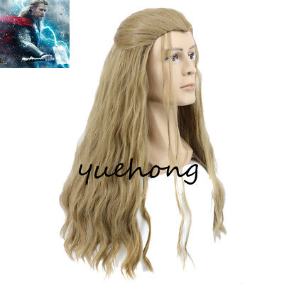 Thor: Ragnarok Thor Wig Long Curly Soft Wig with Braid for Cosplay Costume Party