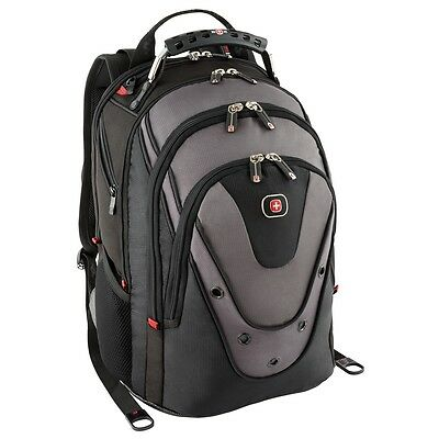 """New W/Tags SwissGear by Wenger 'Update' 15"""" Macbook Pro Backpack - Black/Grey for sale  Shipping to India"""