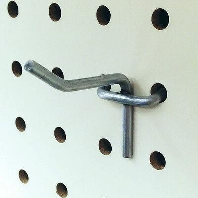40 New Pegboard Peg Board Metal Hooks 1 Deep - Zinc Finish - Lot Of 40