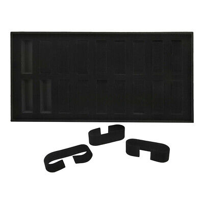 1.20 Lbs 14-34 Black Velvet 18 Slot Womens Watch Tray Display Case Jewelry
