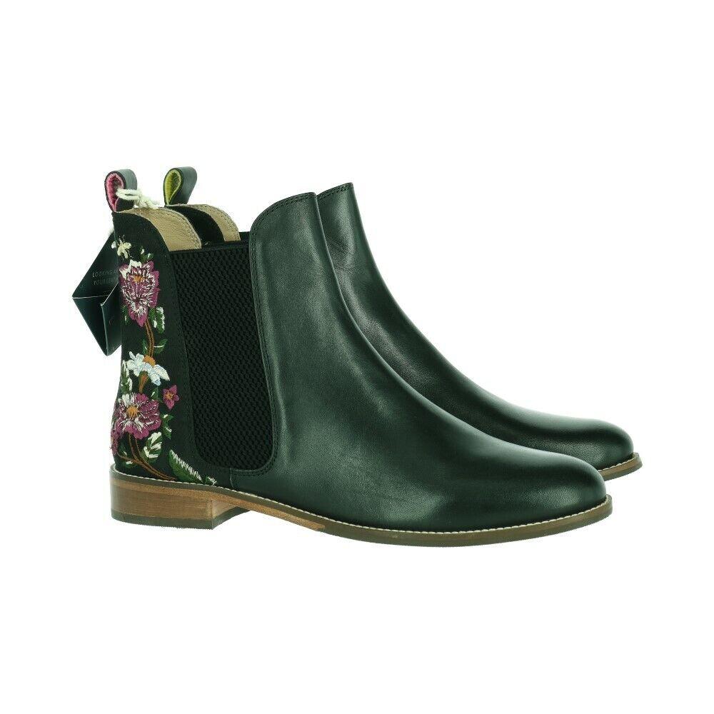 joules 203487 Damen Stiefelette Ankle Boots Leder Schwarz Gr. 42