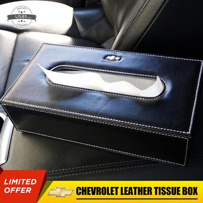 Chevrolet Leather Auto Car Tissue Box Cover Napkin Paper Holder Towel Dispenser Classic Bath Tissue Dispenser
