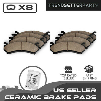 Front & Rear Ceramic Brake Pads for 2007 2008 2009 2010 2011 2012 Nissan Altima