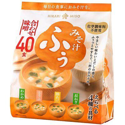 Hikari Miso soup instant Mix Miso NO MSG 40meals 4taste