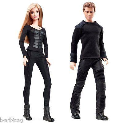 Divergent Barbie Dolls TRIS & FOUR Dolls - 2 dolls Black Label BCP68 BCP69 NEW!!