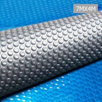 AUS FREE DEL-7x4m Solar Swimming Pool Cover Bubble Blanket - Blue