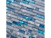 Marble glass mosaic