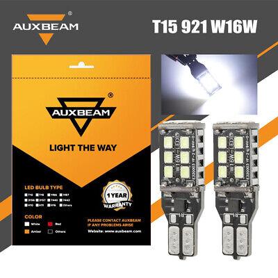 2X AUXBEAM T15 921 912 Backup Brake Reverse Light LED Canbus ERROR FREE Bulb Kit