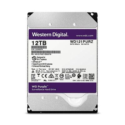 WD Purple WD121PURZ 12TB 7200 RPM 256MB Cache SATA 6.0Gb/s 3