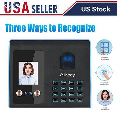 Attendance Machine Face Fingerprint Recognition Mix Biometric Time Clock Q9f1