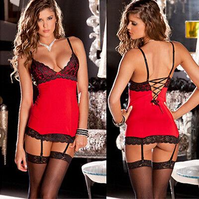 Women'sSexy Lingerie Lace Dress Babydoll NightwearUnderwear Sleepwear G-string