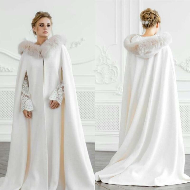 Bridal Wedding Cloaks Fur Coat Capes Jackets Christmas Hallowmas Accessories