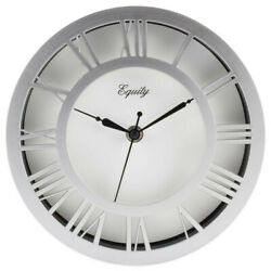 Wall Clock, Equity 8 Colored Plastic Case, Raised Dial 20862 FREE SHIPPING