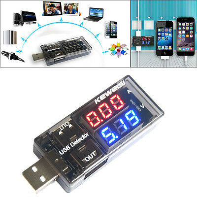 USB Charger Battery Tester Volt Meter Ammeter Current Voltage Charging Detector