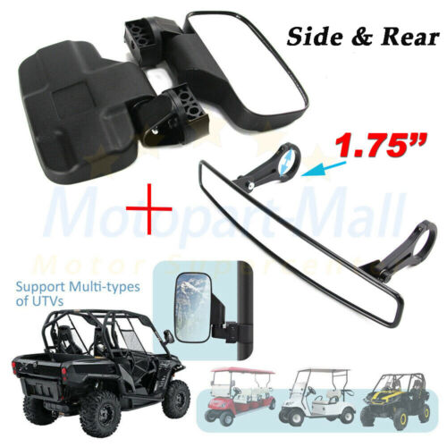 "2/"" Clamps Breakaway Side Rear View Mirrors Set for UTV Polaris RZR XP1000 900 US"