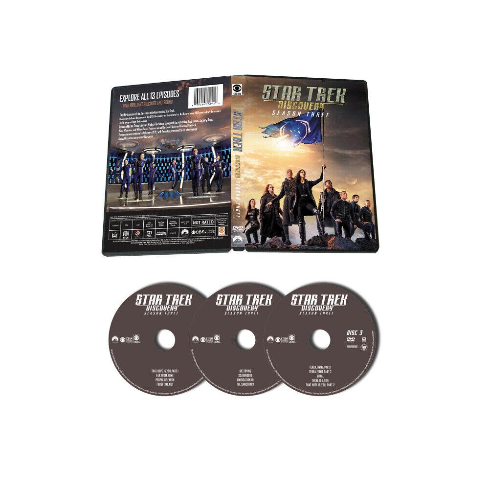 Star Trek Discovery Season 3 ( DVD 3 DISC)New & Sealed Free Shipping US RG1
