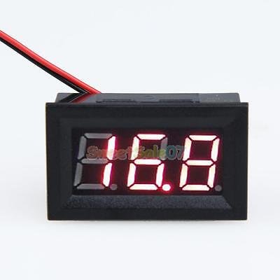Dc 3.2-30v Ammeter Red Led Amp Two-wire Volt Meter Gauge Digital Voltmeter New