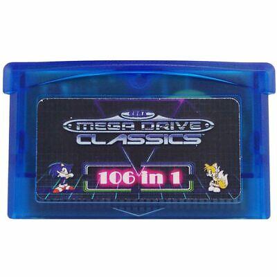 106 in 1 Gamepad game card GBA cartridge box drive Sega Master System Nintendo