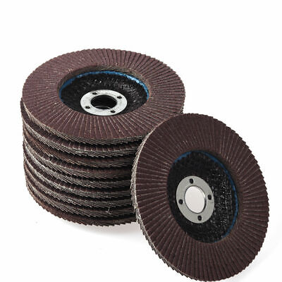 100mm4 Sanding Flap Disc Grinding Wheel Discs For Angle Grinder 60 Grit 10 Pcs