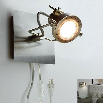 Adjustable Wall Mount LED Spot Lamp Plug-in Track Light Kit Lighting for Bedside