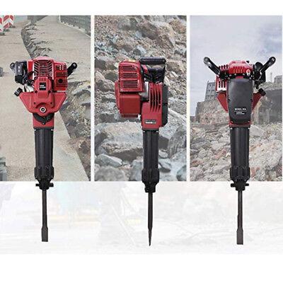 1700w Gasoline Demolition Jack Hammer Construction Concrete Breaker Punch 2 Bits
