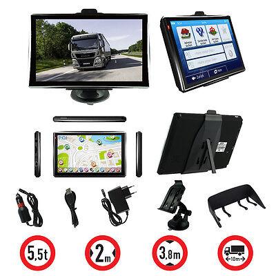 7 Zoll LKW Navigationsgerät PKW BUS Navi Navigation GPS POI Blitzer MP3 Video