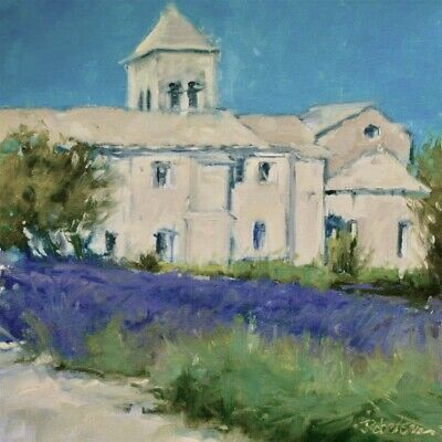 Impressionist Oil Painting original Provence St Paul du Mausole Impressionistic Oil Painting