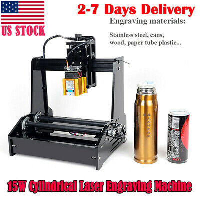 Cylindrical Laser Engraving Machine Metal Steel Iron Stone Engraver Diy Printer