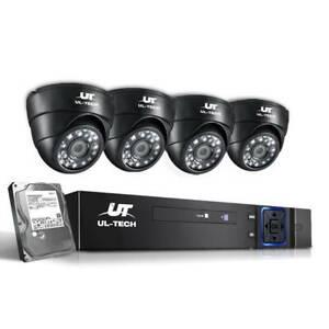CCTV Security System 2TB 4CH DVR 1080P 4 WHTUX-CCTV-4C-4D-BK-2T