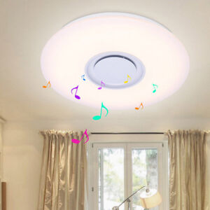Light Fixtures Ceiling Flush Mount With Speaker Color Changing Kids Bedroom Lamp
