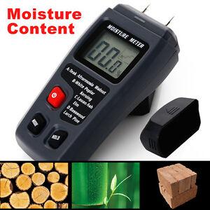 Digital LCD Wood Firewood Moisture Humidity Meter Damp Detector Tester Sensor