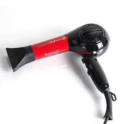 220V Salon Hair Dryer for Professional User / Red Black Color Mix / 3m Cable