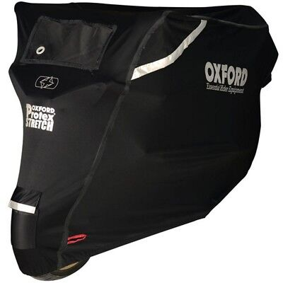 Oxford Protex Stretch Outdoor Motorcycle Bike Cover Black Large