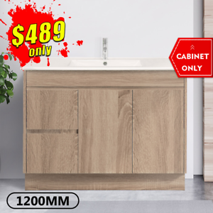Bathroom Vanity 1200mm Freestanding Timber Look Oak Cabinet LOGAN *NEW