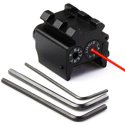 Compact Pistol Low Profile Red Laser Dot Sight Scope with Rail Mount