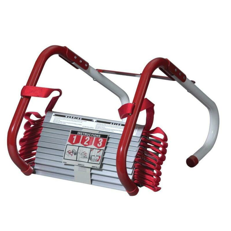 3-Story Fire Escape Ladder 1,000 lb. Capacity Tangle Free Design Rapid Deploy
