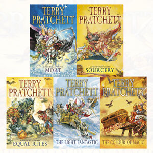 Discworld novel Series 1 (1 to 5) 5 Books Collection Set by Terry Pratchett PACK