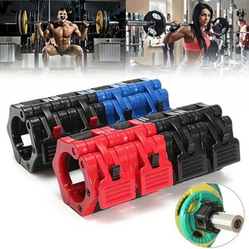 1 Pair Olympic Barbell Dumbell Clip Spinlock Collars Clamp Weight Bar Locks ABS