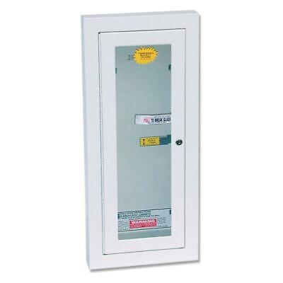 Fire Extinguisher Cabinet Semi-recessed Glass Steel 10-lb With Key Steel Lock