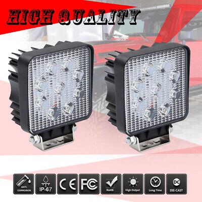 2x 54w 4in Led Work Light Spot Beam Tractor Truck Trailer Fog Driving Lamp