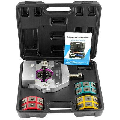 Manual Ac Hose Crimper Kit Air Conditioning Repaire Tools Hose Crimping Tool