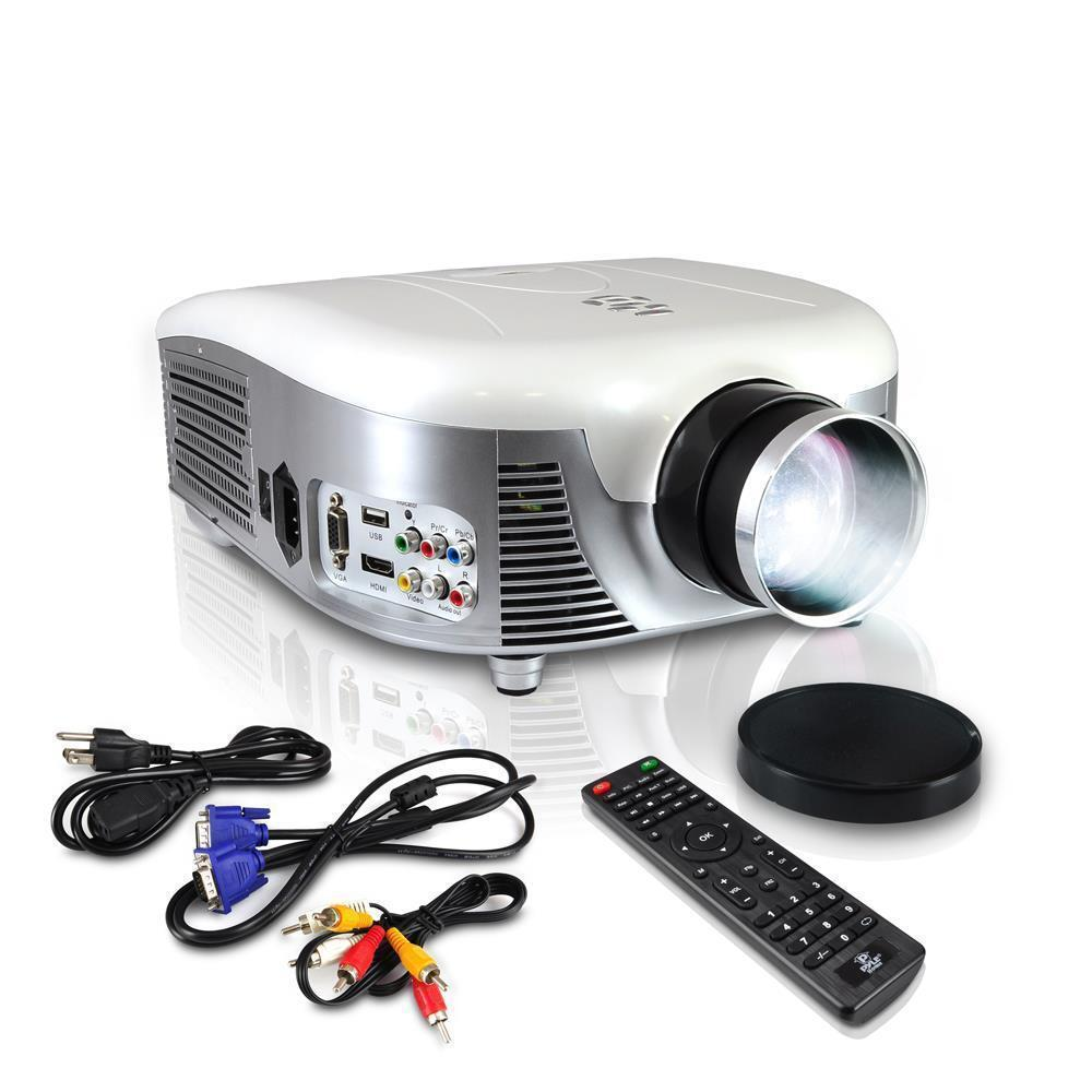 Pyle Prjd907 Widescreen Led Projector Up To 140-inch + Ce...
