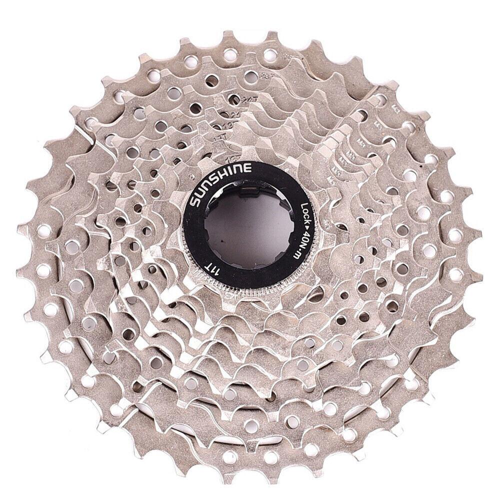 NEW SUNSHINE Cassette 9 Speed 11-32T Freewheel Gear for MTB Road Bike Bicycle