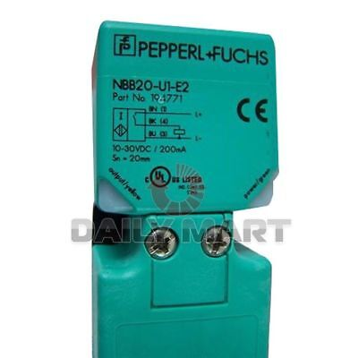 Pepperlfuchs New Nbb20-u1-e2 Plc Inductive Sensor 20mm Flush 3-wire Dc 10-30v