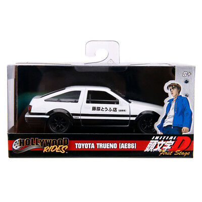 Jada 1986 Toyota Trueno AE86 Hollywood Rides Initial D Diecast White 1:32 99801 for sale  Shipping to Canada