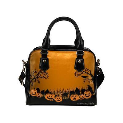 Sweet Midnight Trick or Treat Haunted Cemetery Gothic Pumpkins Halloween Handbag](Halloween Graveyard Dessert)