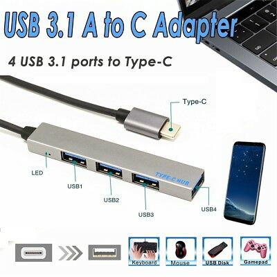 4 in 1 USB Hub Type-C USB-C Adapter With 4 USB 3.1 Port For Macbook Pro T-809A